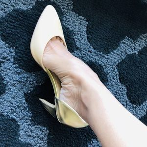 Dolce Vita Shoes Pumps Blush And Gold Curved Heel